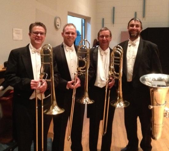 TSO Lower Brass: Scott Kinmont (Guest Principal Trombone), David Robins (Second Trombone), Robert Clark (Principal Bass Trombone), Timothy Jones (Principal Tuba)