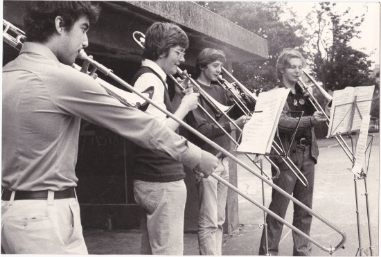 Canberra Youth Orchestra trombone section in 1974