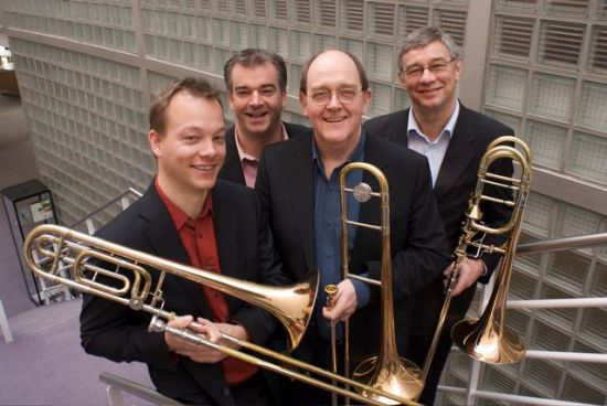 Residentie Orchestra trombone section in 2009
