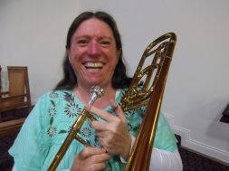 "Sue Rhoades from Queensland: ""Can't believe I get to play the most awesome instrument! You put the mouthpiece to your lips and it feels like coming home <3"""
