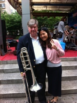 "Jon B. Anderson from Shanghai: ""I like the trombone because: 1. There is no age limit on playing, 2. It works in all countries, 3. Its loud and 4. Chicks dig it!"""